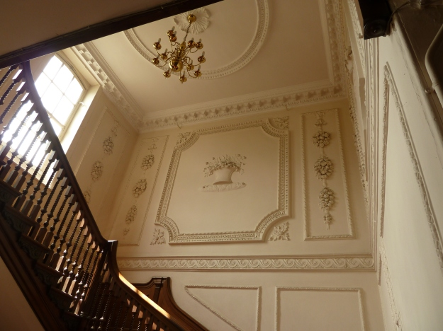 The main stairwell, looking up from the ground floor