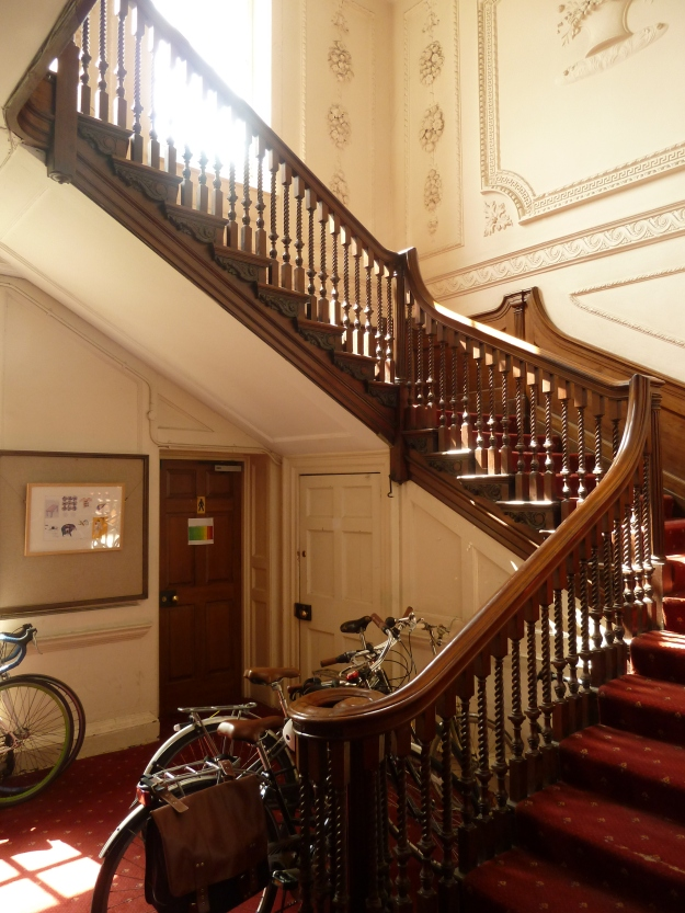 The main stairwell, showing the fine banister