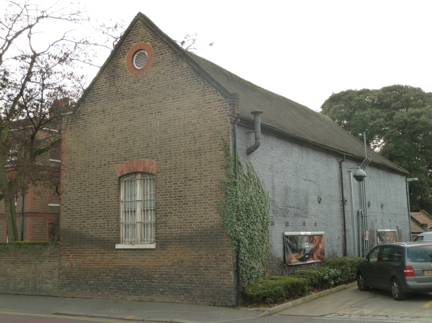 The rear of the stables block, facing the Esso Petrol Station on Hoe Street