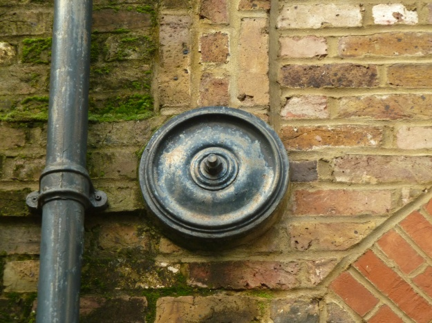 One of the tie plates on the stables block