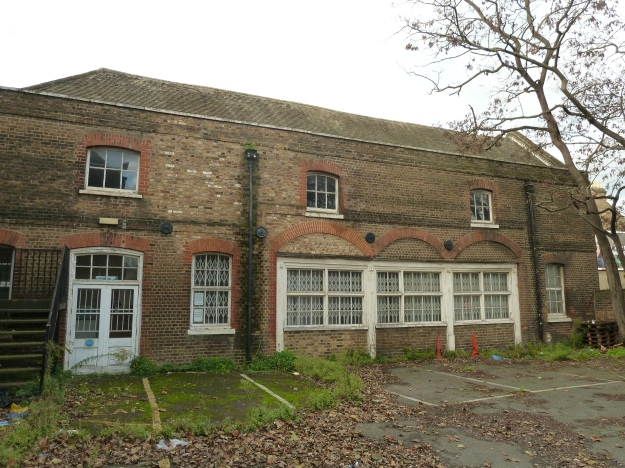 The eastern elevation of the stables block