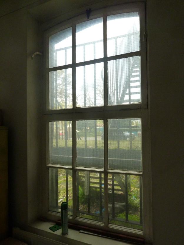 Window in the northern corridor