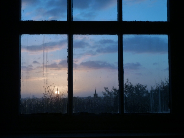 Sunset from the attic of Chestnuts House